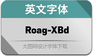 Roag-ExtraBold(英文字体)