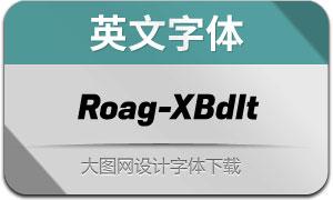Roag-ExtraBoldItalic(英文字体)