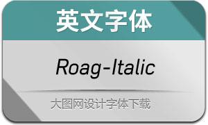 Roag-Italic(英文字体)