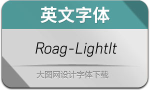 Roag-LightItalic(英文字體)