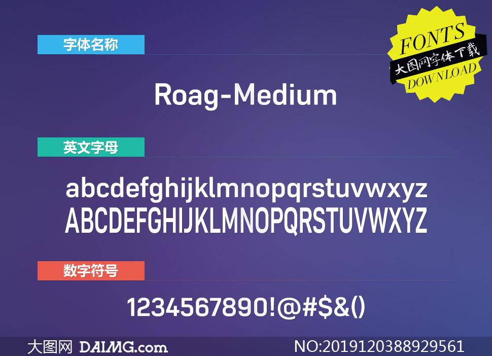 Roag-Medium(英文字体)