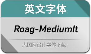 Roag-MediumItalic(英文字体)