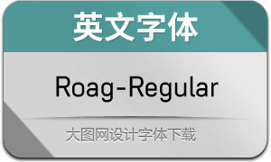 Roag-Regular(英文字體)