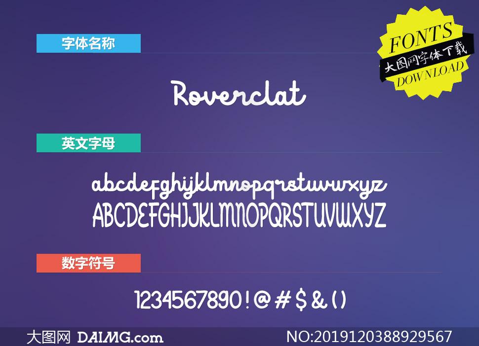 Roverclat(英文字体)