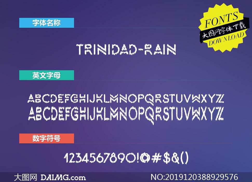 Trinidad-Rain(英文字体)