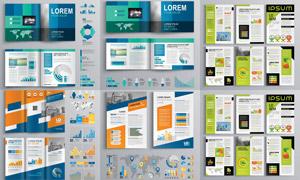 时尚版式画册页面主题设计矢量素材