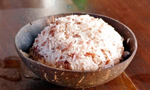稻米椰子饭高清摄影图片