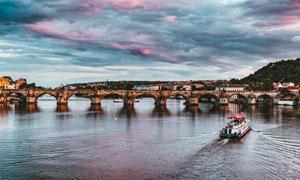 欧式大桥建筑高清摄影图片