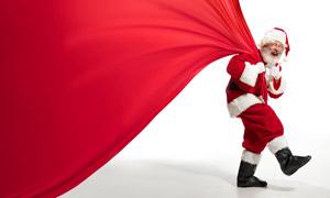 圣诞老人扮相的老年人创意高清图片