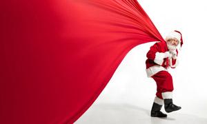 可爱扮相圣诞老人主题摄影高清图片