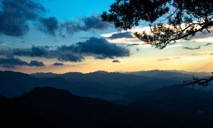 武功山美丽的黄昏美景摄影图片