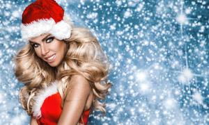 圣诞装扮欧美人物写真摄影高清图片