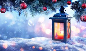 光斑元素圣诞节装饰品摄影高清图片