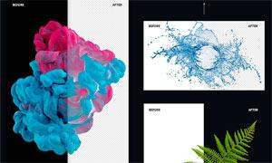 中文版静物和单背景图片抠图特效PS动作