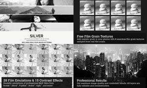 28款中文版黑白电影艺术效果PS动作
