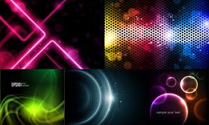炫彩缤纷光效抽象背景创意矢量素材