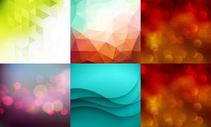 梦幻光斑元素抽象背景创意矢量素材