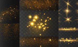 金色星光装饰设计元素主题矢量素材