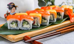 精致日式美食寿司特写摄影高清图片