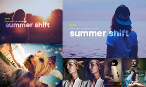 夏季人像照片復古膠片效果LR預設