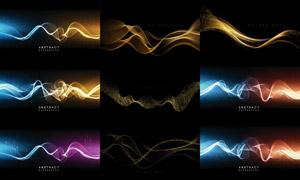 点线元素波形形态背景创意矢量素材