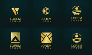 幾何圖案元素標志創意設計矢量素材
