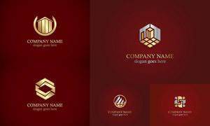 金色质感效果标志创意设计矢量素材