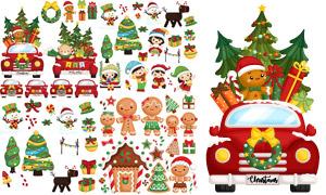 卡通可愛圣誕主題元素設計矢量素材