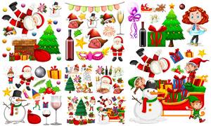 品类繁多的圣诞节装饰主题矢量素材