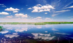 克拉玛依河美丽风光摄影图片