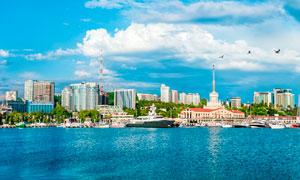 俄罗斯海边旅游城市摄影图片