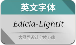 Edicia-LightItalic(英文字体)