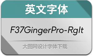 F37GingerPro-RegularIt(英文字体)