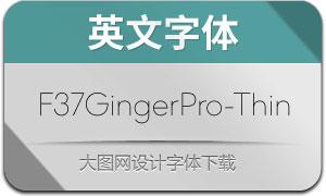 F37GingerPro-Thin(英文字体)