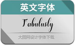 Fabulusly(英文字体)