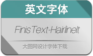 FinisText-HairlineItalic(英文字体)