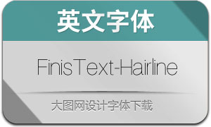 FinisText-Hairline(英文字體)