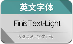 FinisText-Light(英文字体)