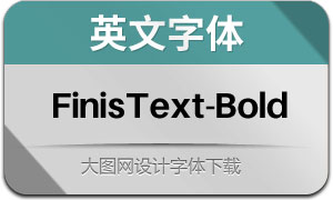 FinisText-Bold(英文字體)