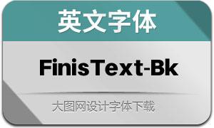 FinisText-Black(英文字体)