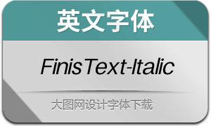 FinisText-Italic(英文字体)