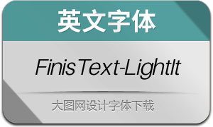 FinisText-LightItalic(英文字体)
