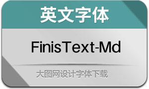 FinisText-Medium(英文字体)