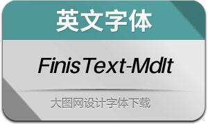 FinisText-MediumItalic(英文字体)
