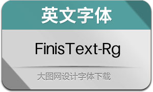 FinisText-Regular(英文字体)
