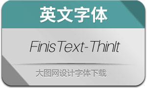 FinisText-ThinItalic(英文字体)