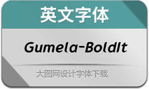 Gumela-BoldItalic(英文字体)
