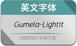Gumela-LightItalic(英文字体)