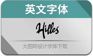 Hilles(英文字体)