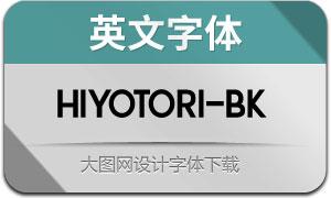 Hiyotori-Black(英文字体)
